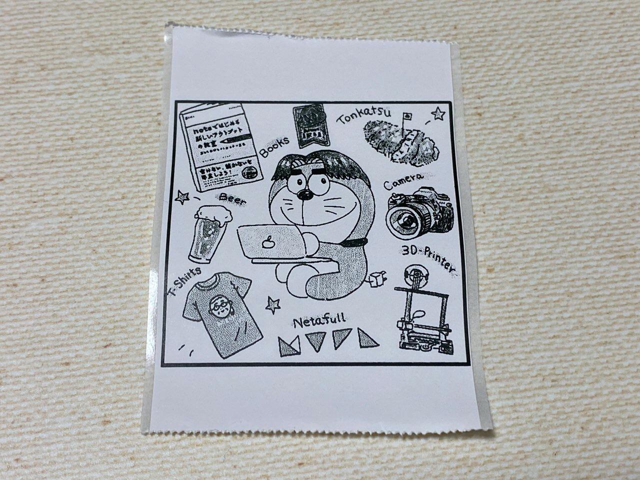 ラベルプリンターでひとコママンガみたいなイラストをステッカーとして印刷するの最高に良いよ!