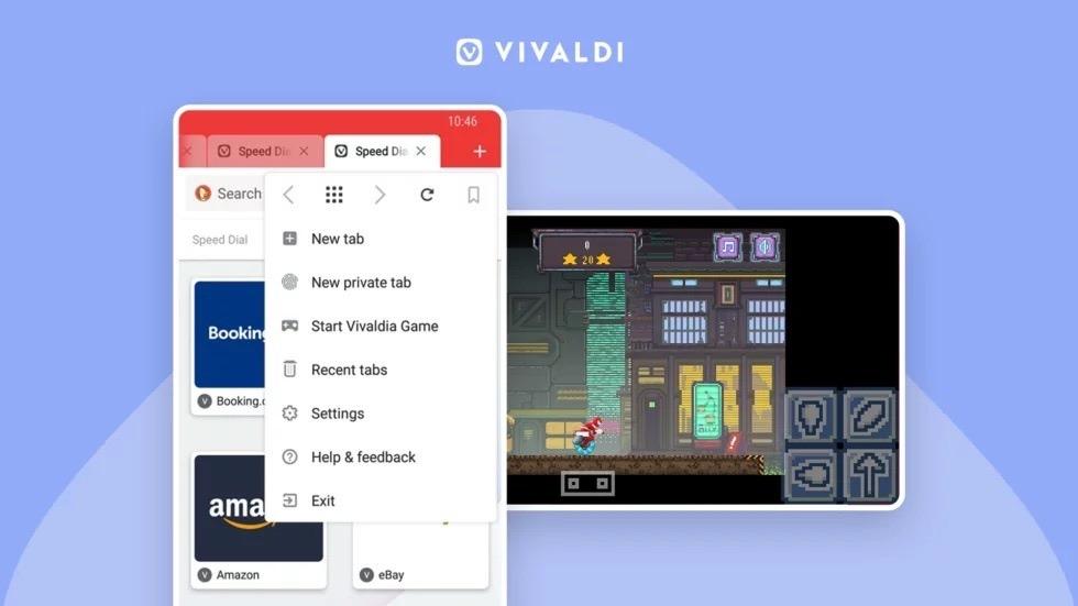 ノルウェー発のウェブブラウザー「Vivaldi」80年代風の横スクロールシューティングゲームを搭載する謎のアップデートを実施