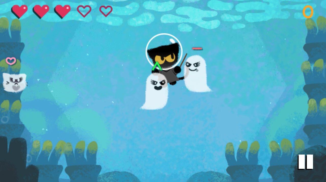 Googleロゴ「ハロウィーン」に 〜猫の魔法使いのゲームが帰ってきた!