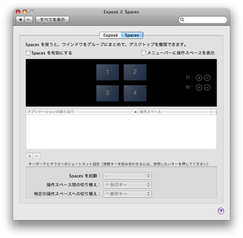 「Leopard」Spacesを試す