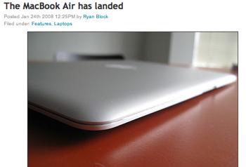 「MacBook Air」アメリカでは出荷開始