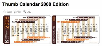 名刺サイズのカレンダー「Thumb Calendar」