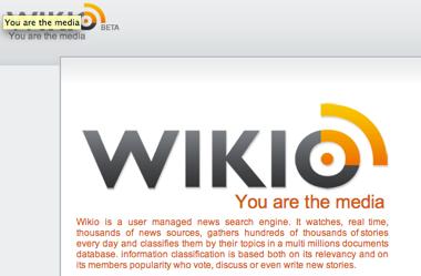 Digg + Technorati + Google news = Wikio