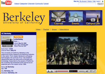 「UC Berkeley」YouTubeで動画を配信
