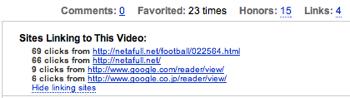 YouTubeの動画へリンクしているサイトを調べる方法