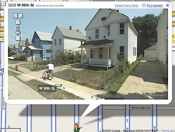 「Google Mapsストリートビュー」に記録された自転車コケる少年