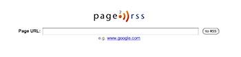 サイトの変化をチェックする「Page2RSS」