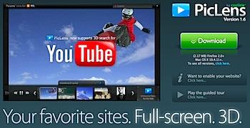 「PicLens」がYouTube対応で写真・動画ブラウズが抜群に良い