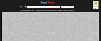 YouTubeの動画を時系列で並べる「TimeTube」