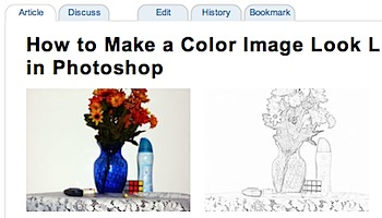 Photoshopで写真を鉛筆スケッチ風にするテクニック