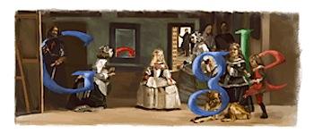 Googleロゴ「Diego Velazquez」に