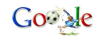 Googleロゴ「欧州選手権2008」に