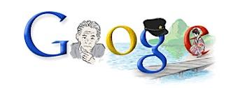 Googleロゴ「川端康成」に