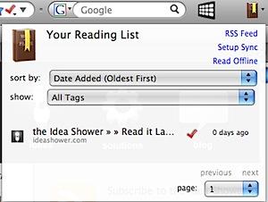"""高機能な""""あとで読む""""Firefoxアドオン「Read It Later」"""
