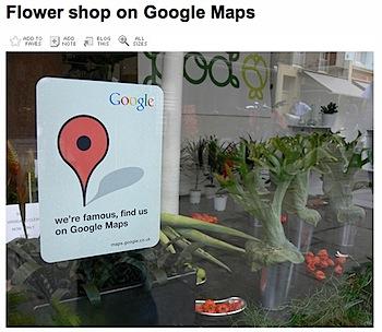 「Googleマップで有名です」ステッカー