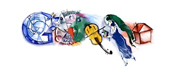 Googleロゴ「Marc Chagall」に