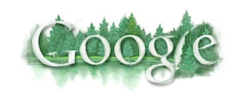 Googleロゴ「東山魁夷」に