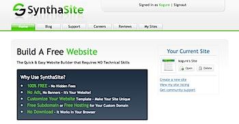 ウェブブラウザでサイト作成・管理できる「SynthaSite」