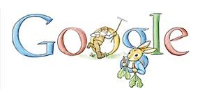 Googleロゴ「Beatrix Potter」に