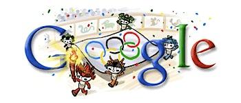 Googleロゴ「北京オリンピック2008」に
