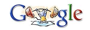 Googleロゴ「北京オリンピックの競技」に