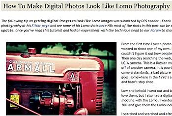 Lomoぽく写真をビンテージに加工する方法