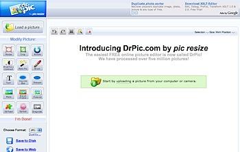 オンライン画像編集サイト「DrPic.com」