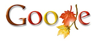 Googleロゴ「first day of fall 2008」に