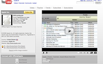 <del>Apple、YouTubeにオフィシャルチャンネル開設</del>