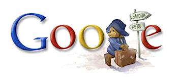 Googleロゴ「Paddington bear(くまのパディントン)」に
