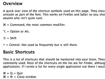 Macで便利な56種類のキーボードショートカット