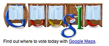 Googleロゴ「大統領選挙」に