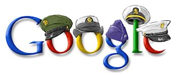 Googleロゴ「veteran's day 2008」に