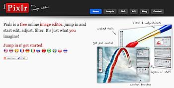 オンライン画像編集サイト「Pixlr」