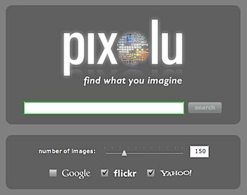 キーワードを入力してドラッグで画像検索「Pixolu」