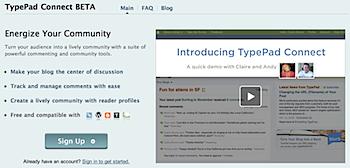 コメントサービス「TypePad Connect」をテスト中