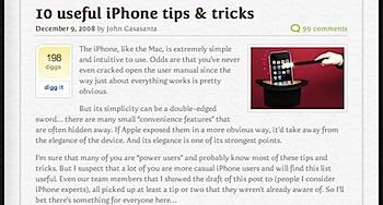 「iPhone」便利な10のtips & tricks
