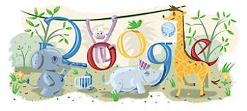 Googleロゴ「new year's 2009」に