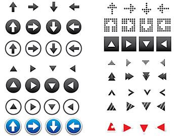 ベクターデータの矢印アイコンが64種類