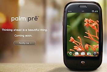 「Palm Pre」Palmから新しいスマートフォン