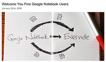 「Evernote」Google Notebookのインポートに対応