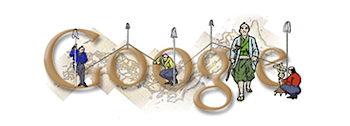 Googleロゴ「伊能忠敬」に