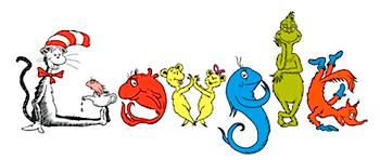 Googleロゴ「Dr Seuss(ドクター・スース)」に