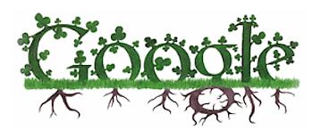 Googleロゴ「聖パトリックの祝日(St. Patrick's Day)」に