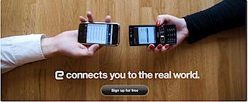 携帯電話/コネクタで交換した名刺をオンラインで管理する「E」