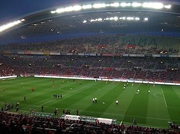 浦和レッズ戦、埼玉スタジアムのビューボックスで観戦