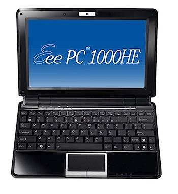 ASUSTeK、9.3時間使える「Eee PC 1000HE」発売
