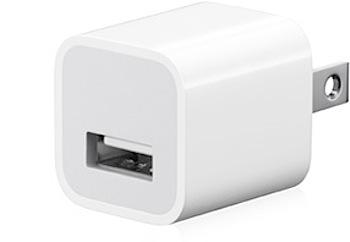 「Apple USB 電源アダプタ」小さいのって素敵