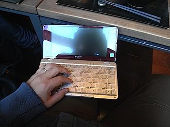 「VAIO type P」と「MacBook Air」でFirefoxのタブを同期する方法