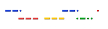 Googleロゴ「モールス」に